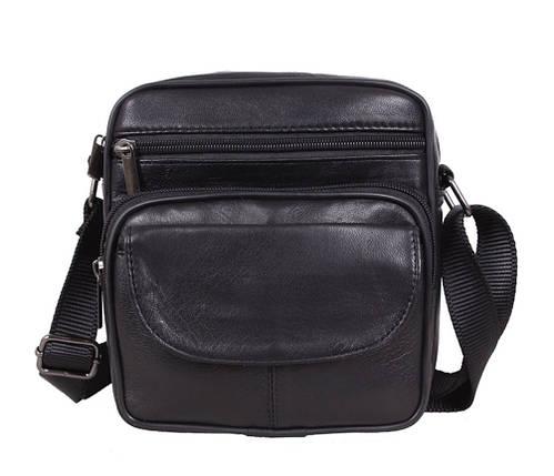 47c8a7d7b503 Компактная мужская кожаная сумка для мелких предметов черная купить ...