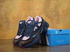 Женские кроссовки Adidas x Raf Simons Ozweego 2 Dark Marine/Cardinal , фото 3
