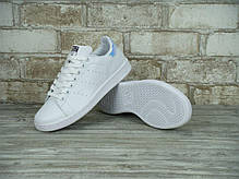 Женские кроссовки Adidas Stan Smith White Metallic Silver-Sld, адидас , фото 2
