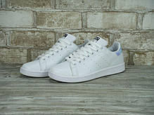Женские кроссовки Adidas Stan Smith White Metallic Silver-Sld, адидас , фото 3