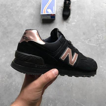"""Женские кроссовки New Balance 574 """"Molten Metal Black"""", фото 2"""