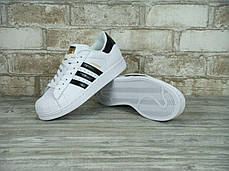 Мужские кроссовки Adidas Superstar ll WHITE BLACK GOLD, адидас , фото 3
