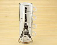 """Чашки """"Эйфелева башня"""", набор 4 шт."""