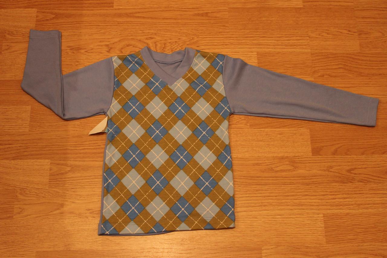 Джемпер для мальчика Ромб Размер 104 - 110 см