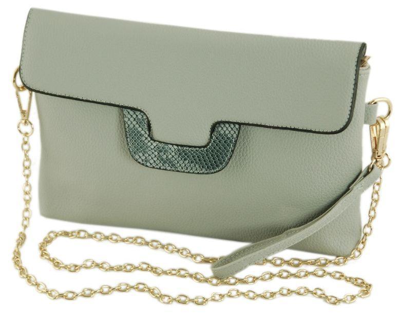 db7a971d0d76 Женская сумка-клатч из экокожи TRAUM 7227-32 серая — только ...
