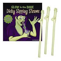 Светящиеся трубочки Penis Strohhalme Glowing для тематических вечеринок