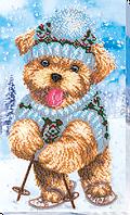 Набор для вышивки бисером Зимняя забава