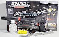 Пистолет MP-1 на аккумуляторе, с гелевыми мягкими пулями, глушитель, лазер, прицел