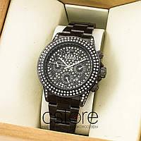 Женские наручные копия часы Rolex cosmograph daytona black black (07431) 25747b8a569