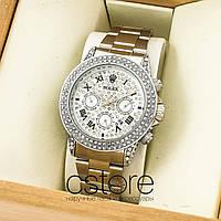 Женские наручные копия часы Rolex cosmograph daytona silver white (07432)