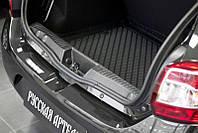 Накладка на порожек багажника Renault Sandero Stepway 2014+ г.в.(Рено Сандеро Степвей)