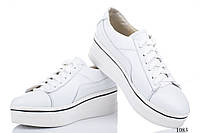 Женские кроссовки кожаные белые 1083 V.Arimany