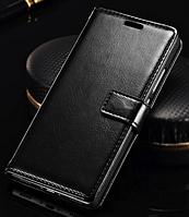 Кожаный чехол-книжка для Huawei Ascend P8 Lite (2015) черный