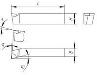 Резец токарный расточной для глухих отверствий 25х16х200 Т5К10 ЧИЗ