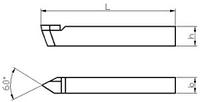 Резец токарный резьбовый для наружной резьбы 16х10х120 ВК8 внутризавод  на VSETOOLS.COM.UA