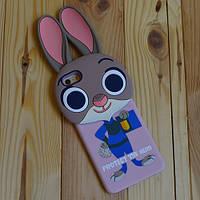 Пластиковый чехол Кролик с ушками для iPhone 6 Plus/6s Plus