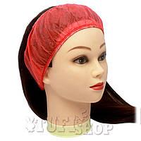 Повязка для волос одноразовая - красный, 10 шт