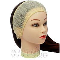 Повязка для волос одноразовая - кремовый, 10 шт