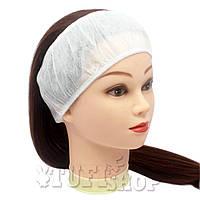 Повязка для волос одноразовая - белый, 10 шт