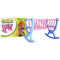 Детская игрушечная кроватка для кукол Анюта 5205, кроватка 5205 Максимус