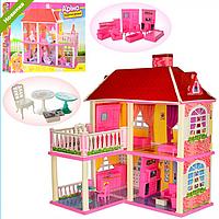 Детский Двухэтажный Кукольный Домик Арина 6980, домик для кукол Арина 6980