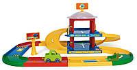 Игровой набор Гараж с Дорогой 53020 Kid Cars 2 этажа Wader, Детский Трек гараж с дорогой 53020