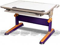 Детский стол Mealux Santiago BD-315, Стол Mealux Santiago Orange-Purple - столешница белая / цвет пластика оранжевый с фиолетовым (BD-315 MC/OR)