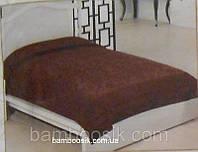 Покрывало бамбуковое Велюр-махра, шоколадное