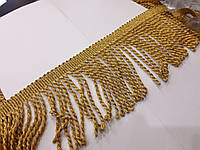 Бахрома кручена золото люрекс 7-8см.