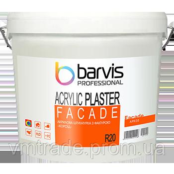 Акриловая штукатурка Барвис Фасад Акрилик Пластер R20 (Facade Acrylic Plaster R20), 25 кг, размер зерна 2,0 мм