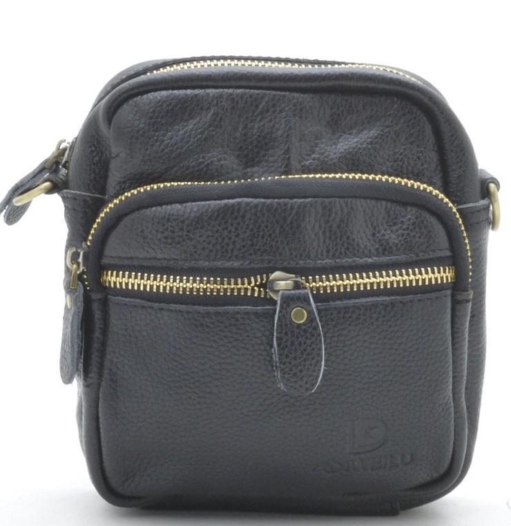 05c8887cd3c0 Мужская кожаная сумка B-08 black Сумки мужские на плечо из натуральной кожи