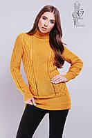 Вязаные женские свитера туники Лена шерсть-акрил