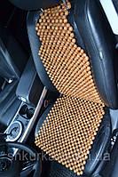 Деревянная накидка массажная на автокресло НД 024, фото 1
