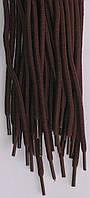 Шнурки круглі темно коричневі 100см синтетика