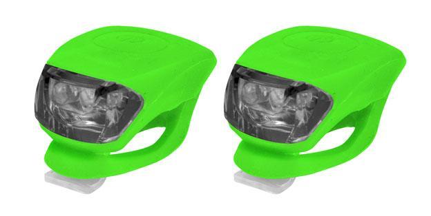 КОМПЛЕКТ: Мини-свет передний 2LED/2 ф-ции + задний 2LED/2 ф-ции зеленый