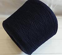 Ангора с мериносом Lanecardate spa Lamora 25% ангора, 75% меринос 1600 м navy темно-синий