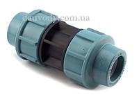 Муфта пнд сполучна 20х20 для поліетиленових труб (Santehplast), фото 1