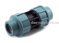 Муфта пнд соединительная 25х25 для полиэтиленовых труб (Santehplast) , фото 1