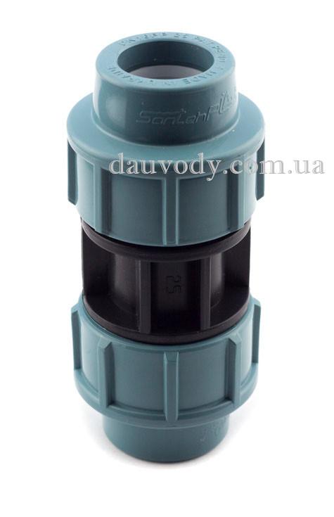 Муфта пнд соединительная 32х32 для полиэтиленовых труб (Santehplast)