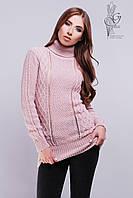 Вязаные женские свитера туники Лена-1 шерсть-акрил