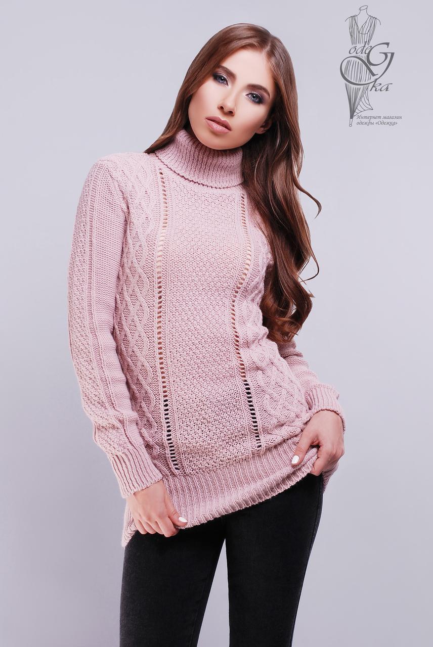 вязаные женские свитера туники лена 1 шерсть акрил цена 28119 грн