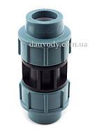 Муфта пнд соединительная 110х110 для полиэтиленовых труб (Santehplast), фото 1