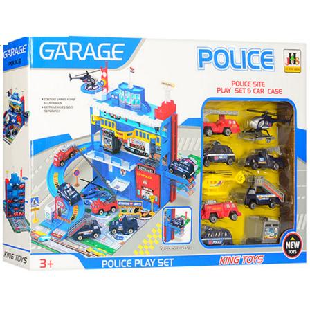 Гараж детский парковка полицейский участок.Игрушка гараж парковка.Детская игрушка парковка.