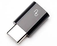 Переходник Xiaomi USB Type C to Micro USB Converter Black