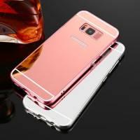 Металлический бампер с акриловой вставкой с зеркальным покрытием для Samsung Galaxy S8 Plus (G955)