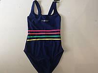 Купальник спортивный для плавания (синий)  для девочек ростом 116 см.