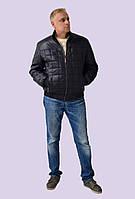 Мужская демисезонная простеганная куртка на утеплителе Модель 113  48-62размеры