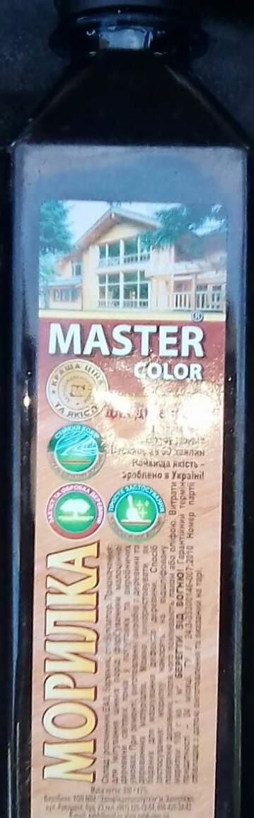 Морилка ольха 0,4л  Master Color (Запорожавтобытхим)