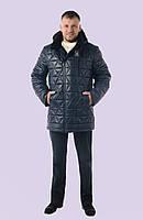 Модная мужская зимняя куртка, простеганная 48-60 размеров Модель 30