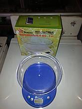 Весы кухонные Domotec ACS KE1 до 5kg со съемной чашей , весы для кухни